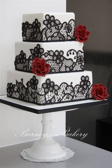 Black And White Wedding Cakes by Square Black And White Wedding Cake Deer Pearl Flowers