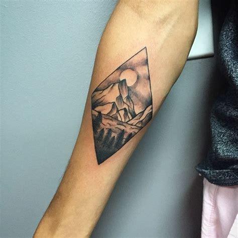 diamond nature tattoo double diamond mountain tattoo ink it pinterest