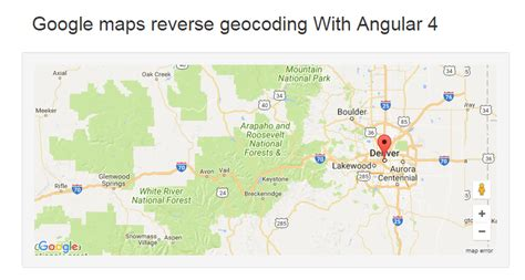 javascript tutorial map google map reverse geocoding exle using agm and