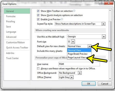 page layout in excel 2013 how to set page layout as the default view in excel 2013