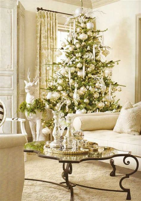 white christmas tree ornaments pictures reference
