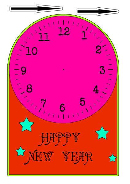 printable new years clock free printable clock new years new years clock play