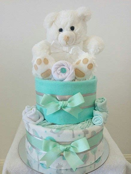 Baby Shower Gifts Brisbane by Nappy Cakes By Baby Neutral Mint Nappy Cake