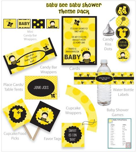 Bee Baby Shower Supplies by Baby Bee Baby Shower Theme Pack Baby Bee Baby Shower