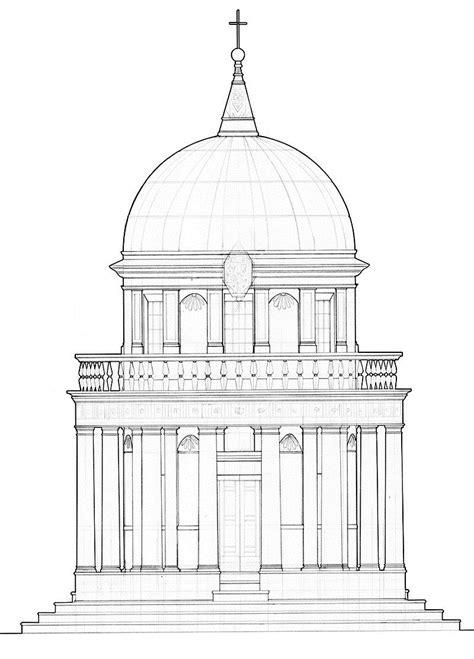 Tempietto | Архитектурный эскиз, Детали архитектуры