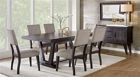 Bassett Dining Room Furniture hill creek black 5 pc rectangle dining room dining room