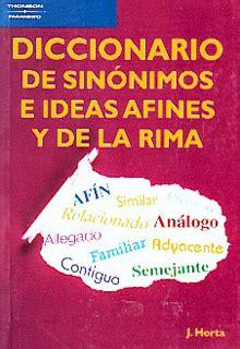 libro diccionario de ideas afines librer 237 a especializada olejnik diccionario de sinonimos e ideas afines y dela rima