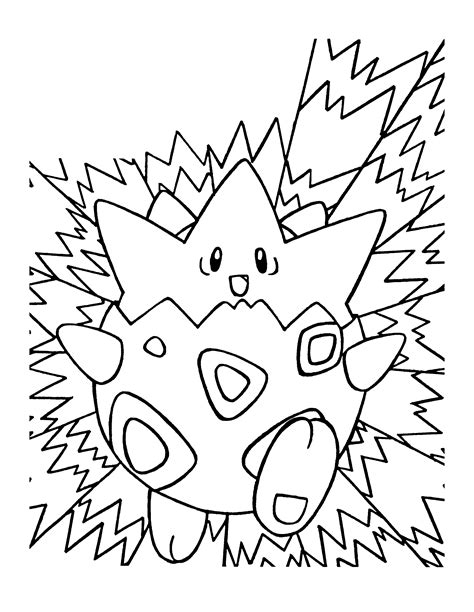 togepi pokemon coloring pages coloring pages