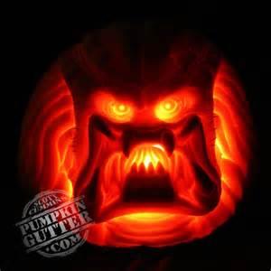 carving gallery 2005 gallery predator pumpkin
