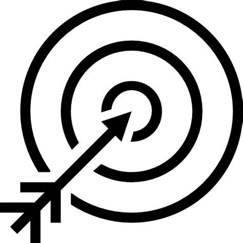 ziel icon pfeil auf der zentrum von das ziel symbol kostenlos