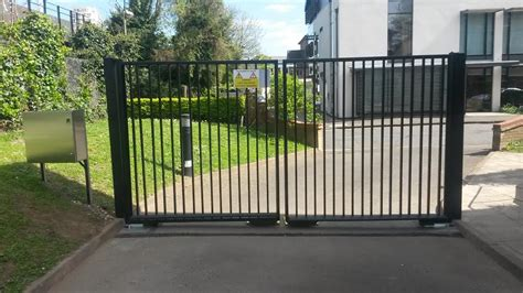 commercial swing gate double leaf swing gates james automation