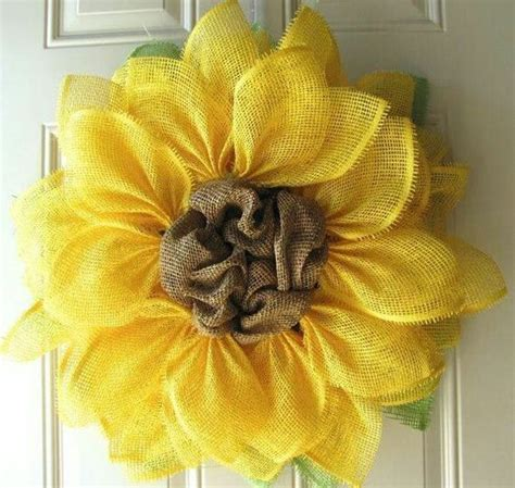 paper mesh flower wreath tutorial sunflower paper mesh wreath diy tutorial crafty ideas