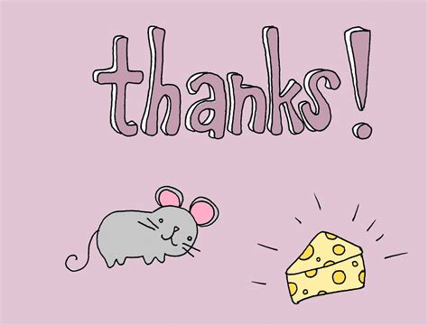 mouse card thank you card with mouse kristen craft cards