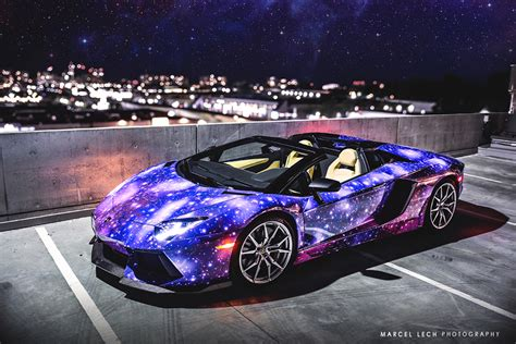 galaxy car wrap lamborghini aventador roadster galaxy wrap hq bro
