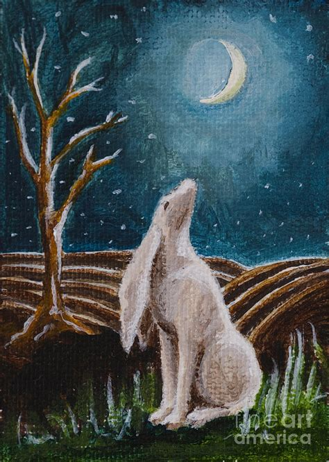 Draw Plans Online moon gazing hare painting by nicole okun