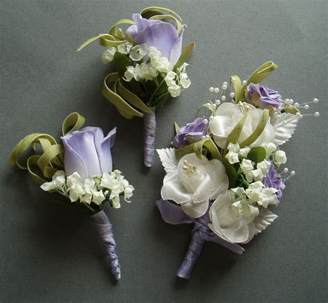 Wedding Corsages by Purple Lilac Boutonniere Corsage Set Destination Wedding
