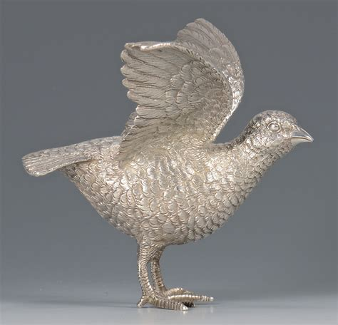 lot 444 sterling silver bird