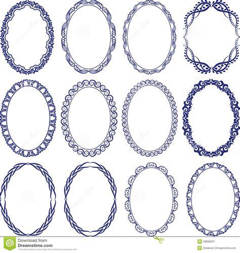 decorative oval border oval border stock vector illustration of decorations