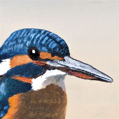 acrylic painting kingfisher the common kingfisher a painting acrylic on canvas 15