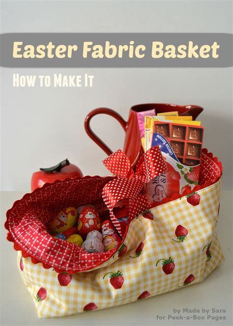 easter fabric basket  tutorial peek  boo pages