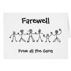 kid chain farewell greeting cards zazzle