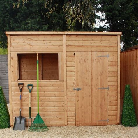 Garden Sheds 8 X 4 by Mercia 8 X 4 Pent Timber Potting Shed Garden Storage
