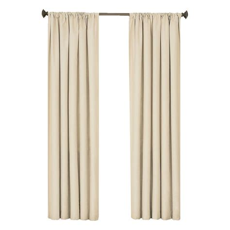 curtains 95 length eclipse kendall blackout ivory curtain panel 95 in