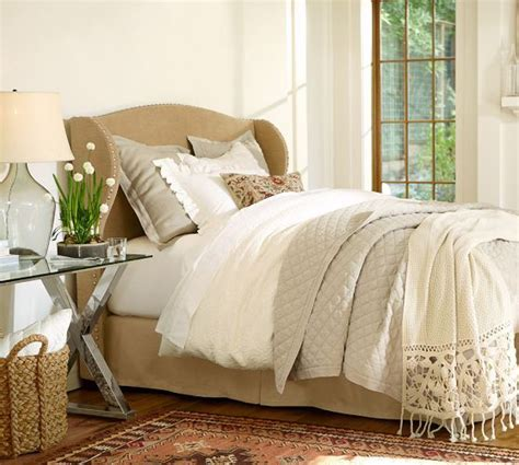 pottery barn coverlet rustic luxe r bedding oatmeal