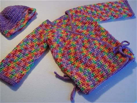 crochet pattern baby kimono ravelry crochet kimono wrap baby sweater pattern by kylie