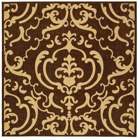 7 Square Area Rug Safavieh Courtyard Chocolate 7 Ft 10 In X 7 Ft 10 In Indoor Outdoor Square Area Rug