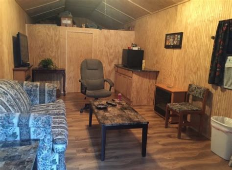 sq ft shed converted  tiny home