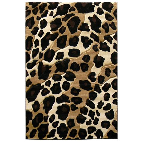 animal print accent rugs donnieann sculpture leopard skin print black 5 ft x 7 ft