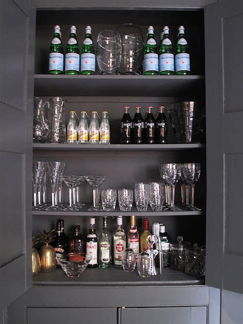 Gray Bar Cabinet Bar Area Design Ideas