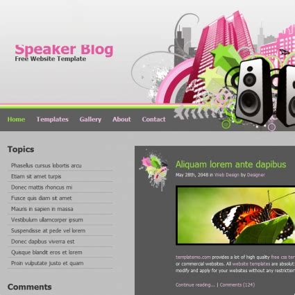 Speaker Blog Free Website Templates In Css Html Js Format For Free Download 174 10kb Speaker Website Templates