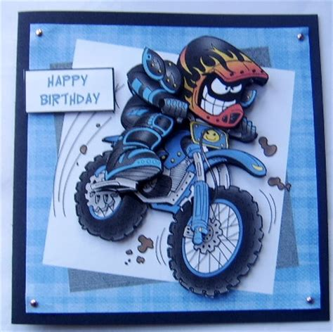 printable birthday cards with motorcycle dirt bike mike off road motorcycle step by step card