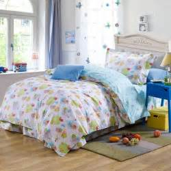 Toddler Bed Flat Sheets Blue Sheep Plant Cotton Bedding Bed Clothes For