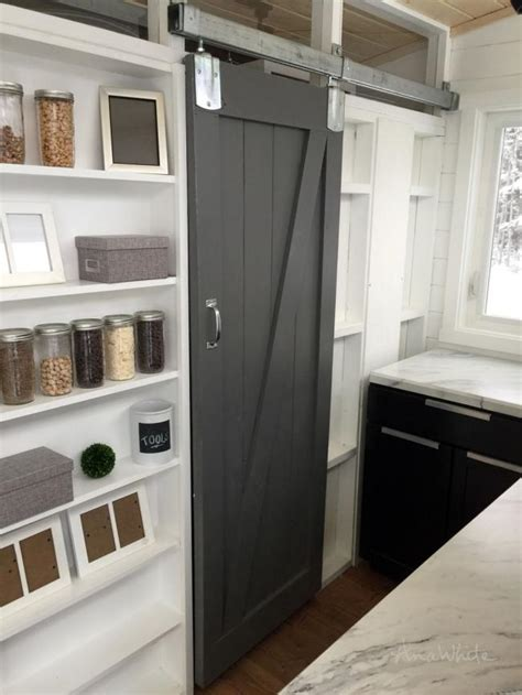 barn door house white diy barn door for tiny house diy projects