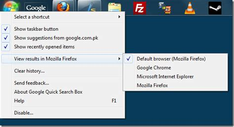 chrome quick search google quick search box in windows 7 taskbar