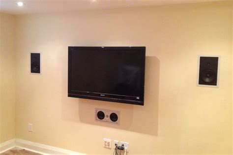 5 1 channel system 3 in wall speakers 2 in ceiling