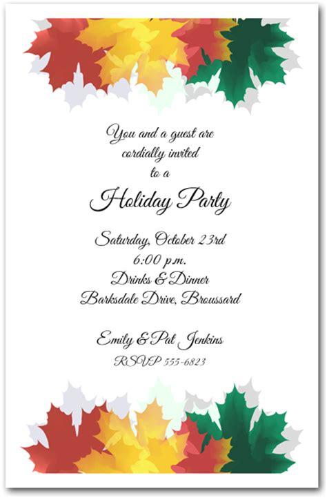 free printable fall invitation templates colorful autumn leaves invitations fall invitations