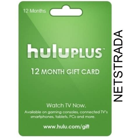 Hulu Gift Card - hulu plus 12 month usa membership gift card 1 year emailed world wide