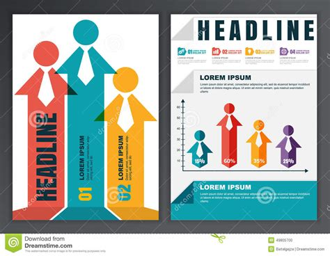 Brochure With Application by Set Of Vector Template For Brochure Flyer Poster Application Stock Vector Image 49805700