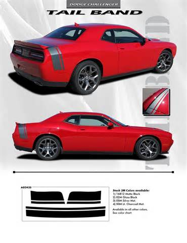 2011 2018 dodge challenger trunk stripes tailband decals