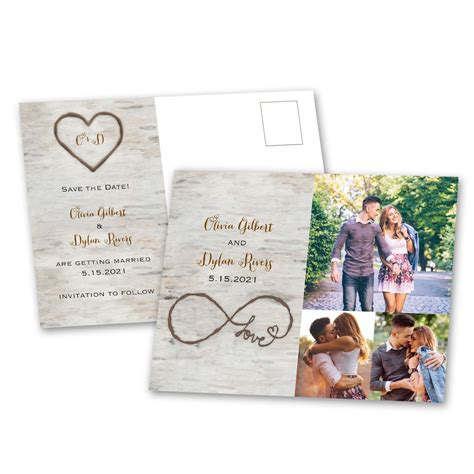 Home Decor Wood Signs by Birch Beauty Save The Date Postcard Ann S Bridal Bargains