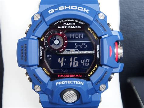 G Shock Rangeman V2 Black Blue live photos g shock rangeman navy gw 9400nvj 2jf