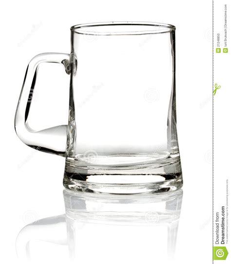 Mug Single Empty empty glass mug for stock photo image 21248850