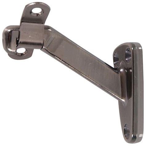 banister brackets everbilt solid brass handrail bracket 16745 the home depot