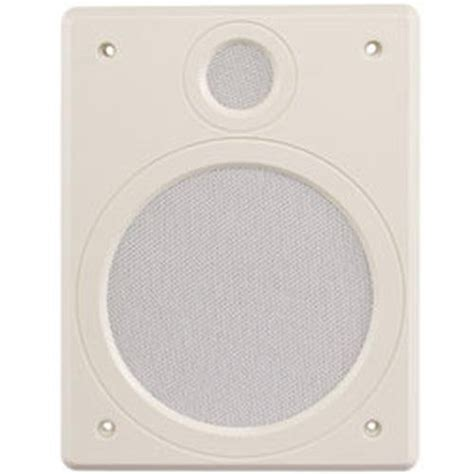 ceiling speaker cover plate magnadyne ls40bw 8 in wall or ceiling mount plate speaker