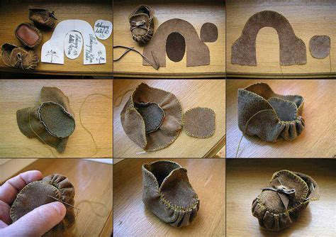 diy shoes tutorial how to make doll shoes moccasins step by step diy