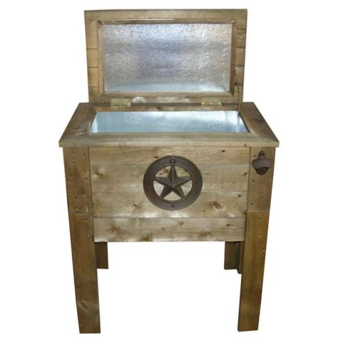 Wooden Patio Cooler by Backyard Expressions Wooden Patio Cooler By Backyard